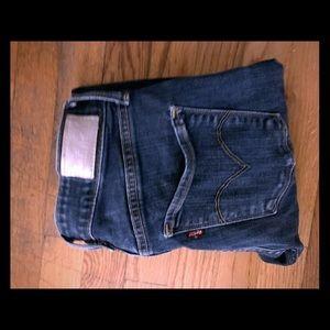 levi dark wash high waisted jeans